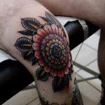 Traditional cool mandala tattoo