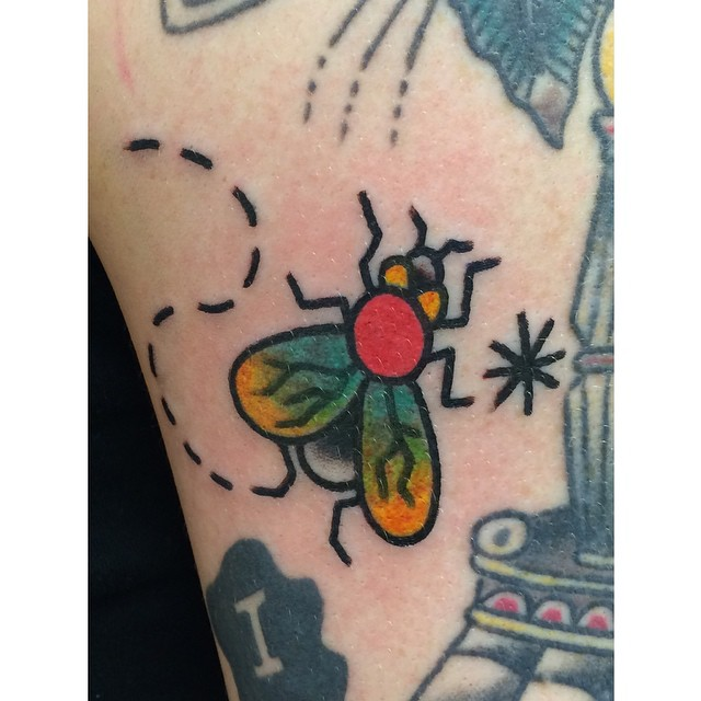 Traditional Small Bee Tattoo