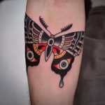 Tradtional style butterfly tattoo