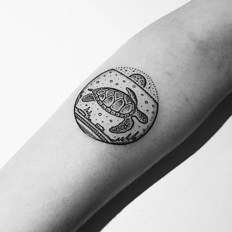 Turtle tattoo on the arm
