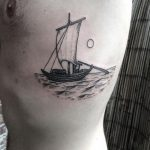 Viking ship tattoo