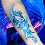 Watercolor fish tattoo