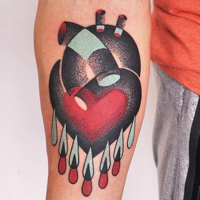 Abstract heart tattoo