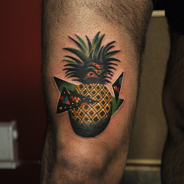Abstract pineapple tattoo