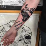 Barking dog tattoo