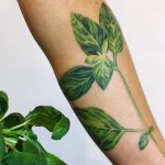 Basil leaf tattoo