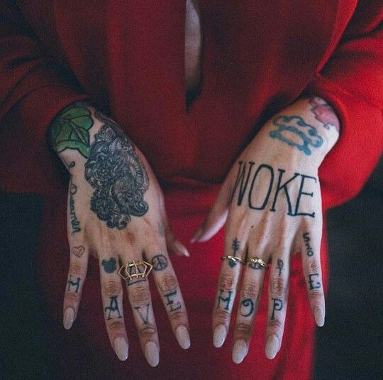 Beautifully inked hands