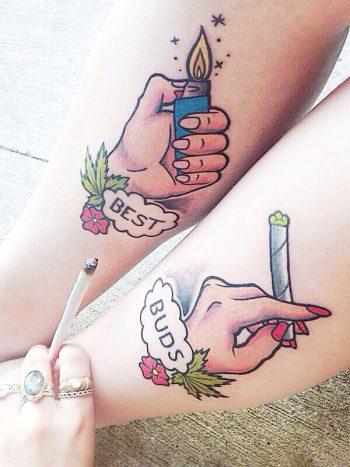 Best buds matching tattoo