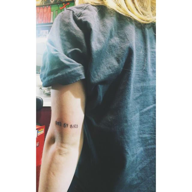 Bird by bird tattoo