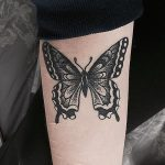 Black beautiful butterfly tattoo