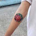 Circular lily tattop
