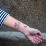 Colorful pretzel tattoo