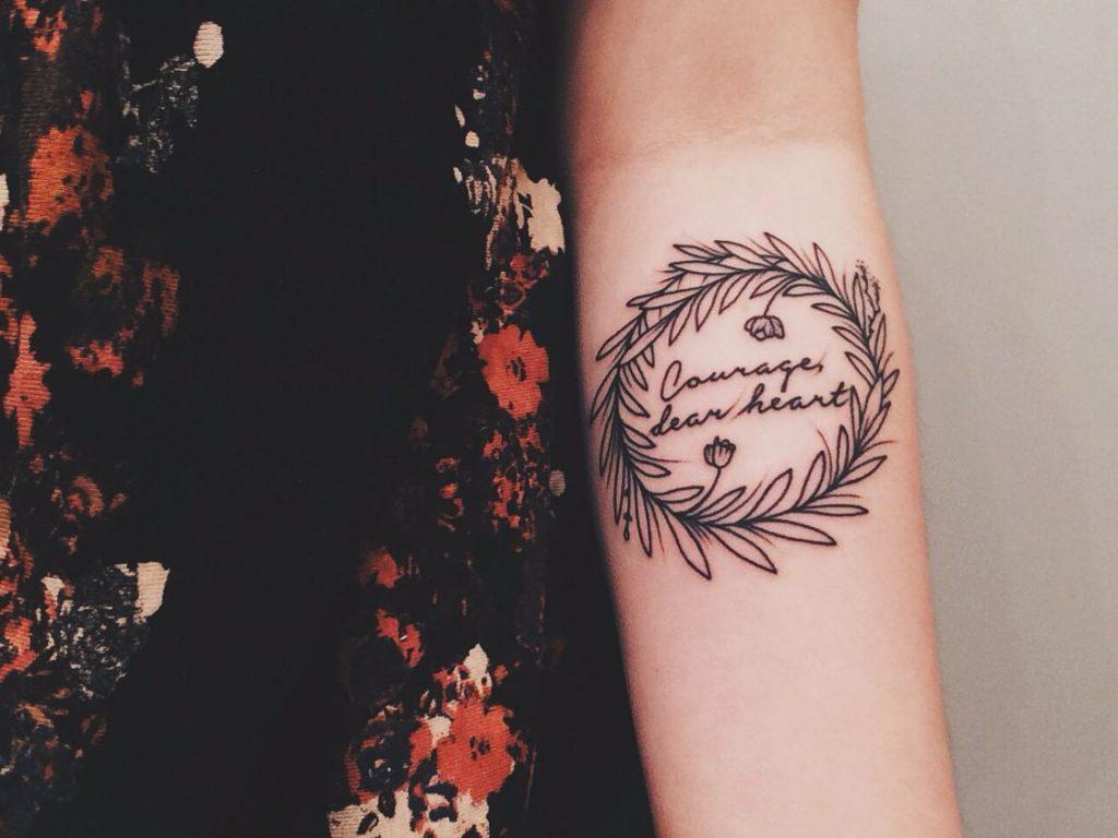 Courage dear heart tattoo