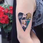 Crying woman tattoo