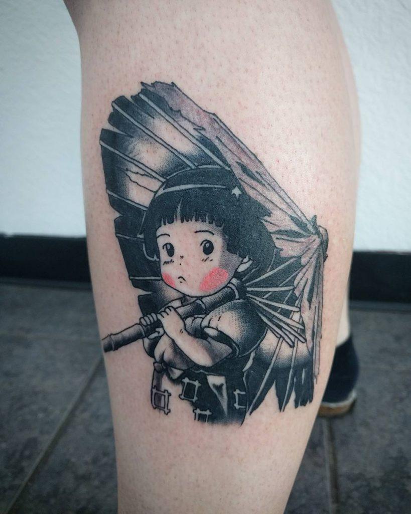 Cute anime girl with umbrella