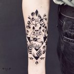 Cute black totoro tattoo