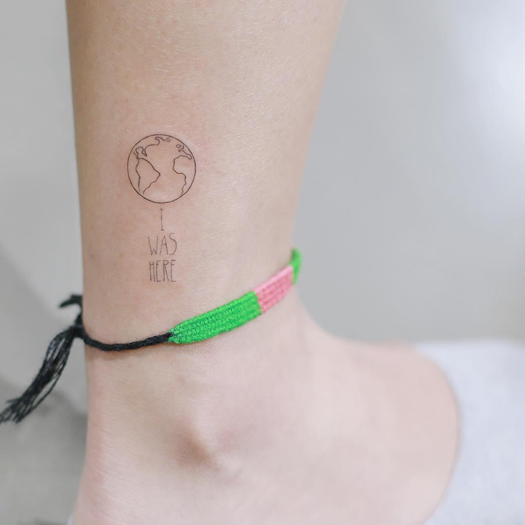 Cute earth tattoo