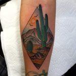 Desert landscape tattoo