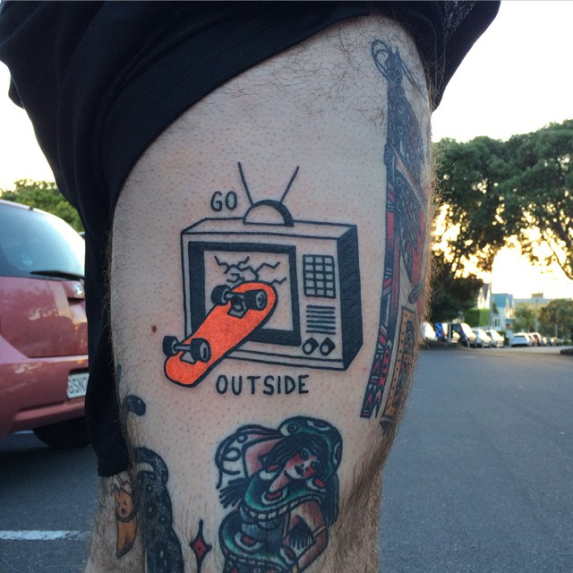 Go outside tattoo