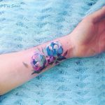 Gorgeous floral tattoo on the inner wrist