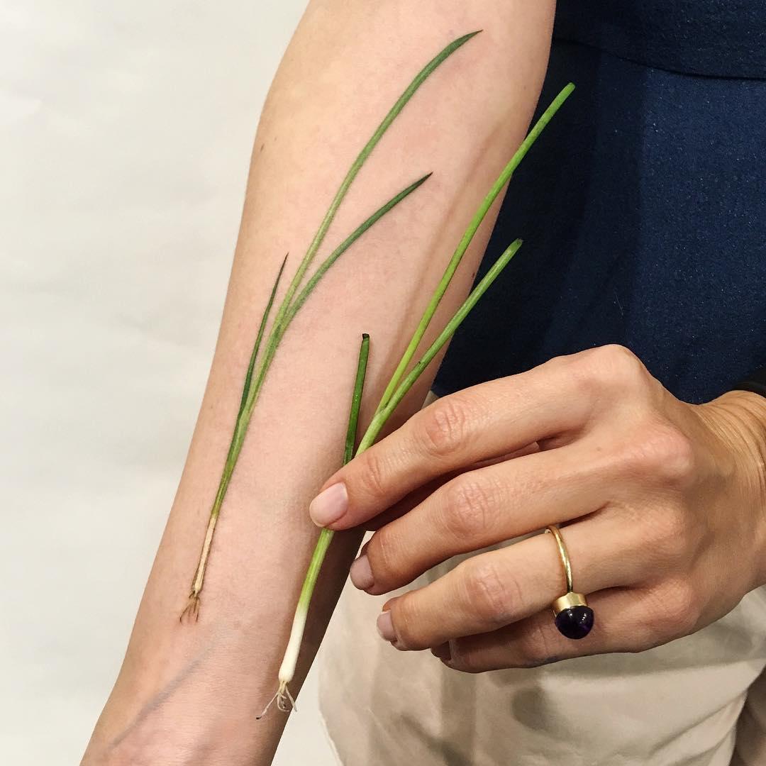 Green onions tattoo