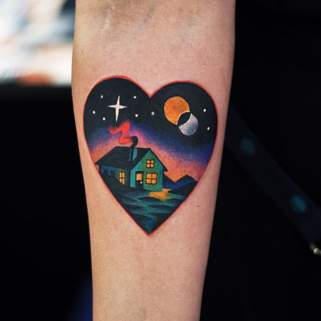 Home sweet home tattoo