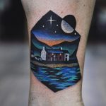 House by the lake tattoo