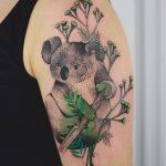 Hyper realistic koala tattoo