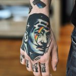 Hyper realistic salvador dali tattoo