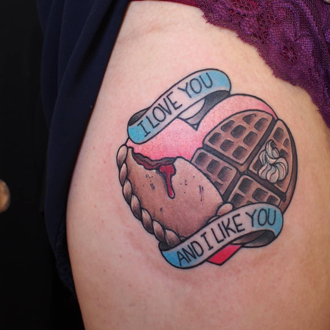 I love you and i like you tattoo