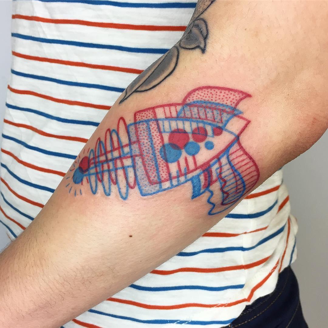 Laser gun tattoo