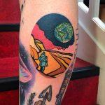 Mars landscape tattoo