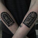 Matching doorway tattoos