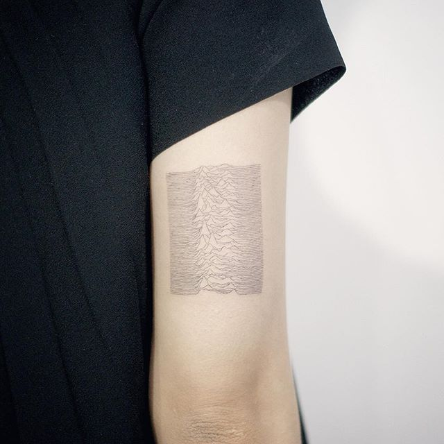 Minimalist style joy division tattoo