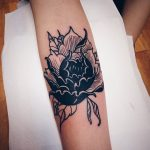 Negative space black flower