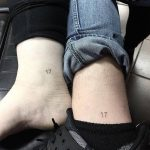 Number 17 matching tattoos