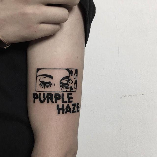 Purple haze tattoo