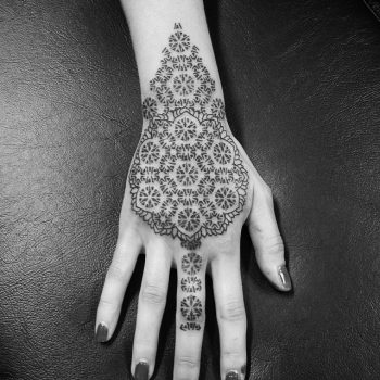 Sacred geometry ornament tattoo