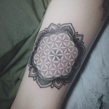 Sacred geometry ornamental tattoo