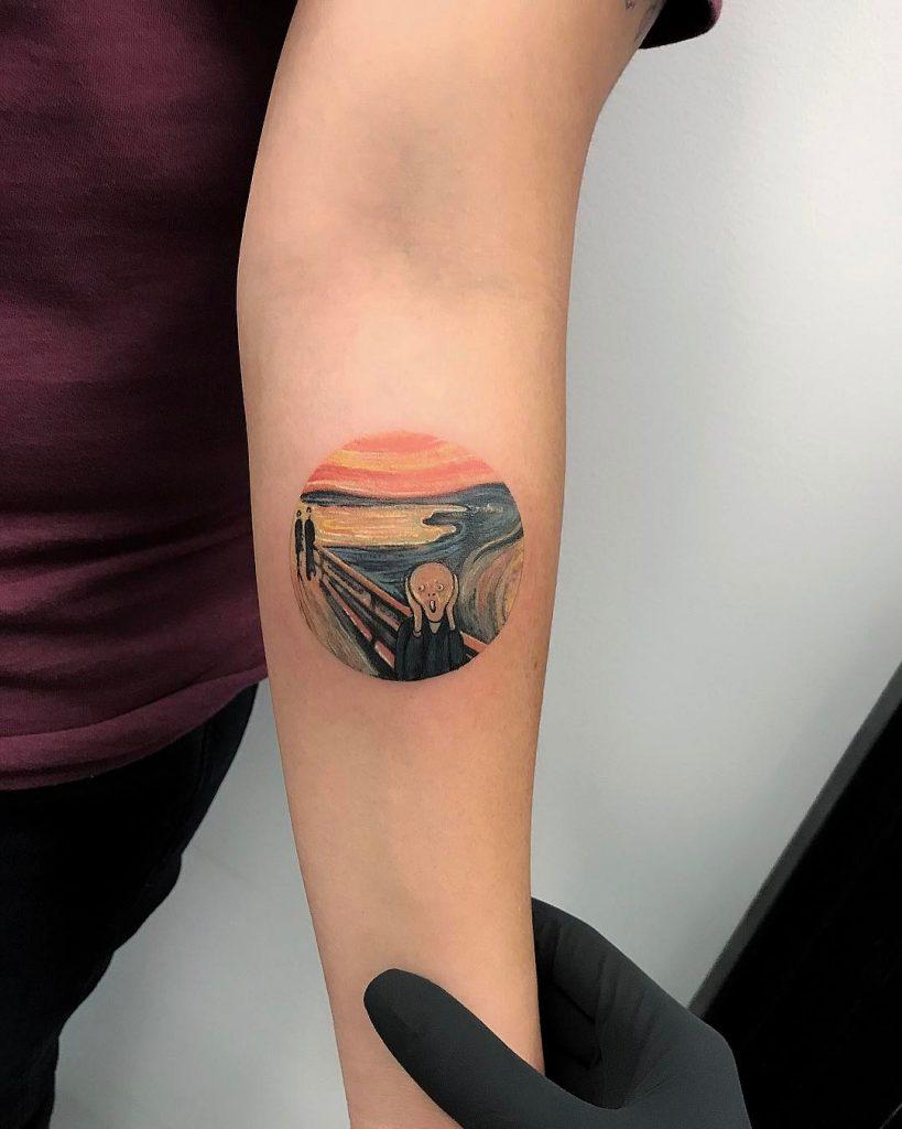 Scream replica tattoo