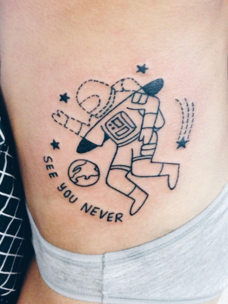 See you never tattoo
