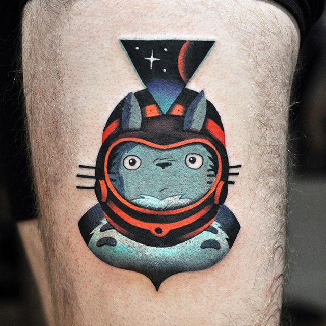 Space totoro tattoo