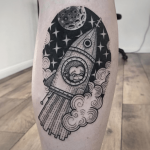 Spaceship with monkey tattoo