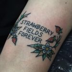 Strawberry fields forever tattoo