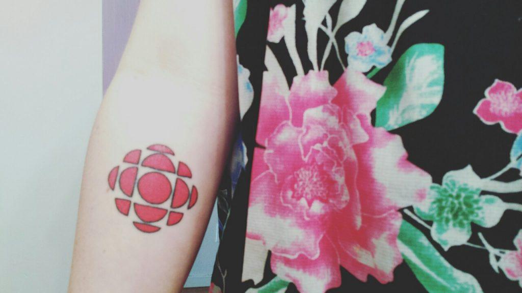Stylized flower tattoo
