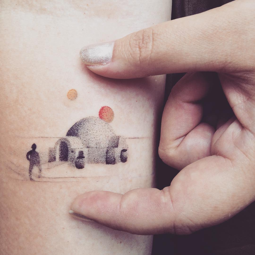 Super little igloo tattoo