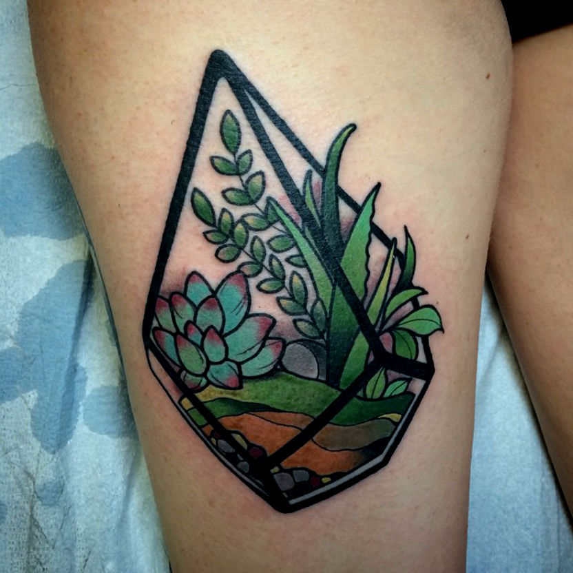 Terrarium tattoo