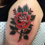 Traditional beautiful rose tattoo