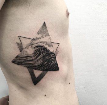 Triangular wave tattoo