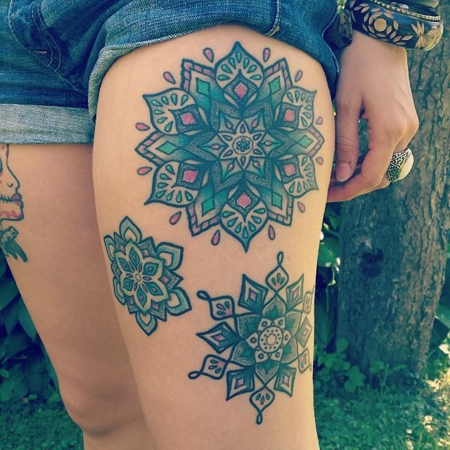 Triple mandala tattoo